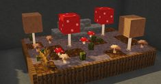 Miniature Mushroom Biome By u/WanDonne