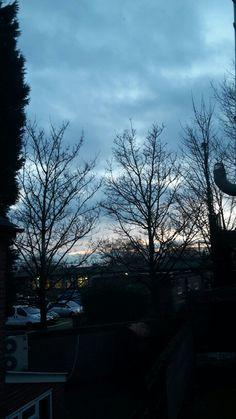 Cloudy evening sky