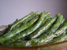 Oven Roasted Green Beans - super easy and delicious (Cooking During Stolen Moments)