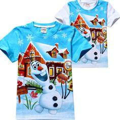 New-Kids-Boys-Snowflake-Olaf-Snowman-Short-Sleeve-Tops-T-shirt-2-8Years **************************************** eBay: חולצת יוניסקס מדליקה של אולף בשני צבעים לבחירה מ-23 ₪ + משלוח חינם! גיל 2-8