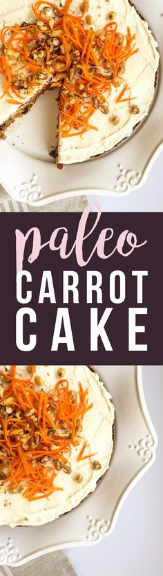This Paleo Carrot Cake is grain-free, dairy-free, fruit-sweetened... healthy and tasty. :) GrokGrub.com