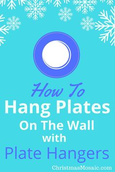 Hanging your decorative plates on the wall can be a tricky process. You want them to stay up there once they're hung. This tutorial is about how to hang plates on wall with plate hangers. A disc adhesive plate hanger…Read more → Christmas Mosaics, Christmas Decor, Teller An Der Wand, Hang Plates On Wall, Plate Hangers, Was Ist Pinterest, Health Care Reform, Decorative Plates, Magic