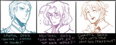 From the Hitman Jones line... Germany, Canada, and Italy. Gosh darnit all, ALL the characters are drawn so nicely!