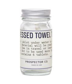Prospector Co. compressed towel tablets