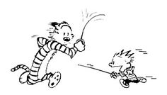 Calvin and Hobbes fencing