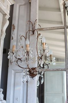 ♕ Atelier de Campagne chandelier ~ love the simplicity of this one