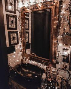 Useful Walk-in Shower Design Ideas For Smaller Bathrooms – Home Dcorz Bathroom Colors, Bathroom Sets, Small Bathroom, Bathrooms, Halloween Bedroom, Halloween House, Fall Halloween, Goth Home Decor, Gothic Bathroom Decor
