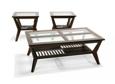 Bernards 8808 3 Piece Table Set with Grid and Glass Top Includes : -1 Cocktail table. -2 End tables. Features: -3 Piece table set with grid. -Espresso finish. -Wood construction. -Glass top. Specifications: -Cocktail table dimensions: 20″ H x 50″ W x 28″ D. -End table dimensions: 24″ H x [...]