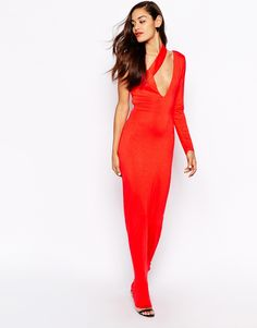 AQ AQ Shay One Shoulder Maxi Dress