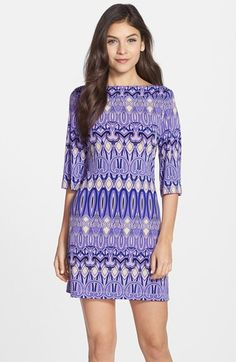 Donna+Morgan+Print+Jersey+Shift+Dress+available+at+#Nordstrom