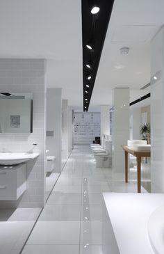 Kohler Dubai showroom. #tristanbutterfield Kohler Showroom, Bath Showroom, Showroom Design, Showroom Ideas, Interior Design, Bathroom Store, Bathroom Showrooms, Dubai Mall, Granite Store