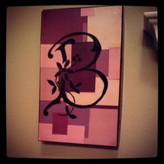 Shoe box lid + paint chips = free wall art!