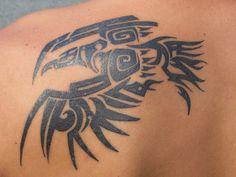 Eagle Shoulder Tattoo, Back Of Shoulder Tattoo, Back Tattoo, Daisy Tattoo Designs, Tribal Tattoo Designs, Tribal Eagle Tattoo, Tribal Tattoos, Cool Tattoos For Guys, Tattoos For Women