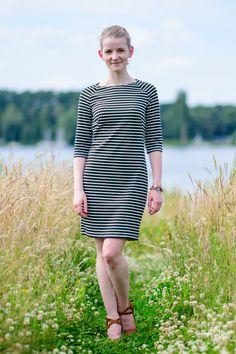 Naeh.bar – burdastyle Kleid Raglan nähen gestreift – sewing striped dress