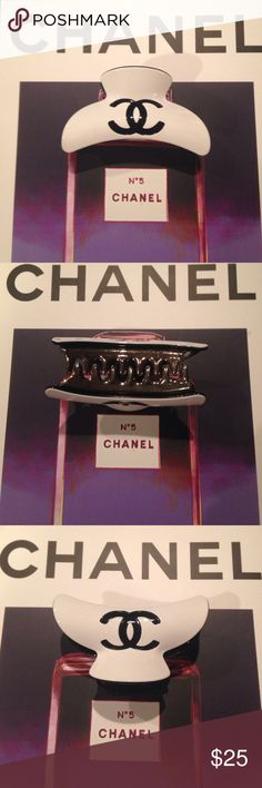 """Chanel hair clip- only 👆🏼 New- 3"""" logo on both sides CHANEL Makeup"""
