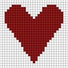"Free Printable ♥ⓛⓞⓥⓔ♥  Heart Chart for Crochet or Needlecrafts. This screams: ""Make me into a pillow, please!"" ...maybe some coasters to make up quick!"