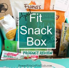 April Fit Snack Box Product Review - look what showed up in my mailbox the other day.  This subscription box is filled with healthy snacks of all variety.  To order go to (affiliate link):  http://fitsnack.com/fffc and get a free gym bag ($10 value) with your order.