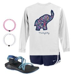 """❤️ My Lokais"" by camlinker ❤ liked on Polyvore featuring NIKE and Chaco"