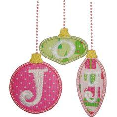 Joy Ornaments Applique from Planet Applique