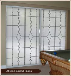 Allure Leaded Glass Privacy Window Film - Frosted Window Covering
