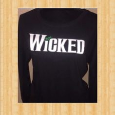 ⭐️price drop⭐️WICKED the musical long sleeve Wicked the Broadway musical graphic tee long sleeve. Small. very thin material. No one mourns the wicked  Trusted posher with 4.9 rating and 1.3 average days to ship. We share and follow back. Tops Tees - Long Sleeve
