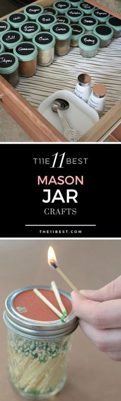 Do you love DIY crafts and projects? You'll want to try some of these fun mason jar crafts. Some of them can even be given out as gifts! #ArtsandCrafts #EverydayArtsandCrafts