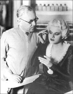 Jean Harlow and Max Factor, c. 1931