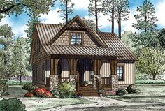 Cottage Country Craftsman House Plan 82268