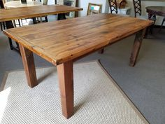 We have a beautiful selection of handmade farm tables, $895 each!