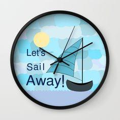 A funny clock for those who love #sailing. #sailor #boat #wallclock #society6