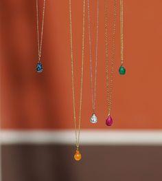 Ακαταμάχητα mini drops από χρυσό 18Κ και ημιπολύτιμους λίθους! Arrow Necklace, Drop, Mini, Outfits, Jewelry, Style, Accessories, Swag, Jewels