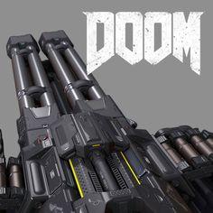 Doom Chaingun/Turret MOd, Gregor Kopka on ArtStation at https://www.artstation.com/artwork/LB9yA