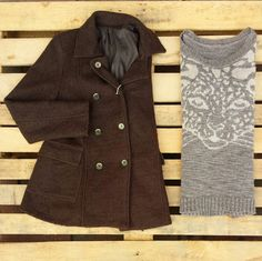 Giacca marrone foderata lana cotta 45 euro, maglione con leopardo 30 euro! #woodstockzambon   #shop   #vintage  #vicenza  #shopping   #online