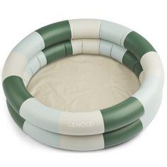 Basen 80cm – leonore garden green|sandy|dove blue – liewood – COCOSHKI Baby Pool, Beach Bucket, Activity Toys, Barnet, Summer Accessories, Nordic Design, Summer Essentials, Fun Prints, Blue Stripes