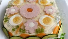 Fotorecept: Aspiková torta Buffet, Food Decoration, Fresh Rolls, Food And Drink, Eggs, Easter, Treats, Breakfast, Ethnic Recipes
