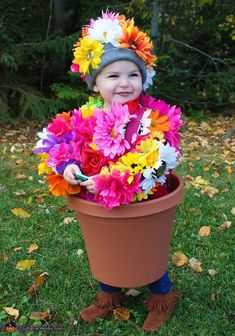 Potted Flower - Cute Homemade Halloween Costume