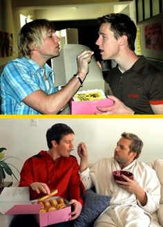 Ryan Hansen feeding Jason Dohring.  These pics kill me every time I see them!!!