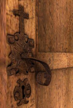 Farm House door handle. Mesh, Blender