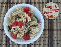 Sweet and Tangy Pasta Salad is Potluck Heaven - My Plant-Based Family