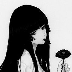 anime monochrome 1k notes Anime girl anime face