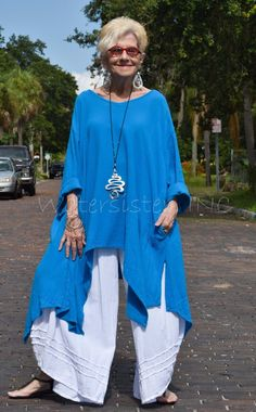 Fashion Over 50, Look Fashion, Fashion Outfits, Womens Fashion, Estilo Casual Chic, Casual Chic Style, Gauze Clothing, Pantalon Large, Layering Outfits