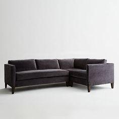 Dunham Down-Filled 3-Piece Sectional - Box Cushion