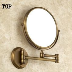 (43.69$)  Buy here  - Antique bathroom 8 inch mirror magnifying mirror with wall mounting cosmetic mirror bathroom illuminated mirrors