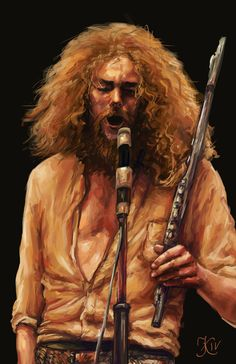 Ian Anderson (Jethro Tull) by batakakumba – Rock Music Art Music, Music Artists, Heavy Metal, Psychedelic Bands, Rock & Pop, Classic Rock And Roll, Jethro Tull, Delta Blues, Rock N Roll Music