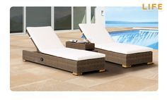 Ligbed Moray Light Brown   Tuinmeubel Collectie   LIFE Outdoor Living