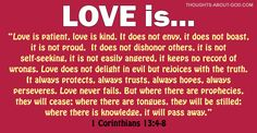 Love | Thoughts about God Daily Devotionals