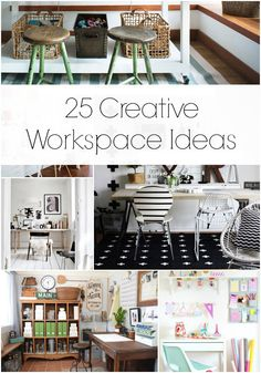 25 Creative Workspace Ideas | MountainModernLife.com