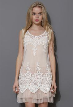 Baroque Embroidery White Mesh Top - Tops - Retro, Indie and Unique Fashion