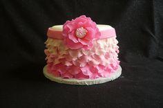 Ombre Ruffle Dummy Cake | Flickr - Photo Sharing!