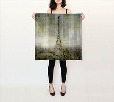 "Square Scarf (26"" x 26"") ""Digital-Art PARIS Eiffel Tower | Geometric Mix No.1"" by Melanie Viola"